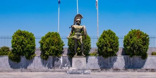 Σπάρτη - Το Άγαλμα του Λεωνίδα