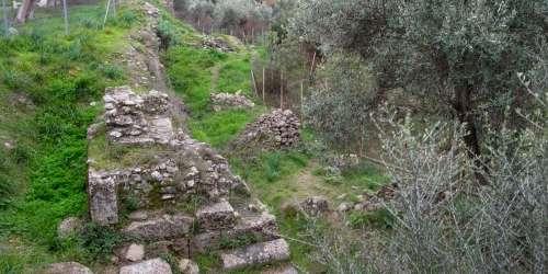 Ακρόπολη Σπάρτης -Υστερορωμαϊκό Τείχος